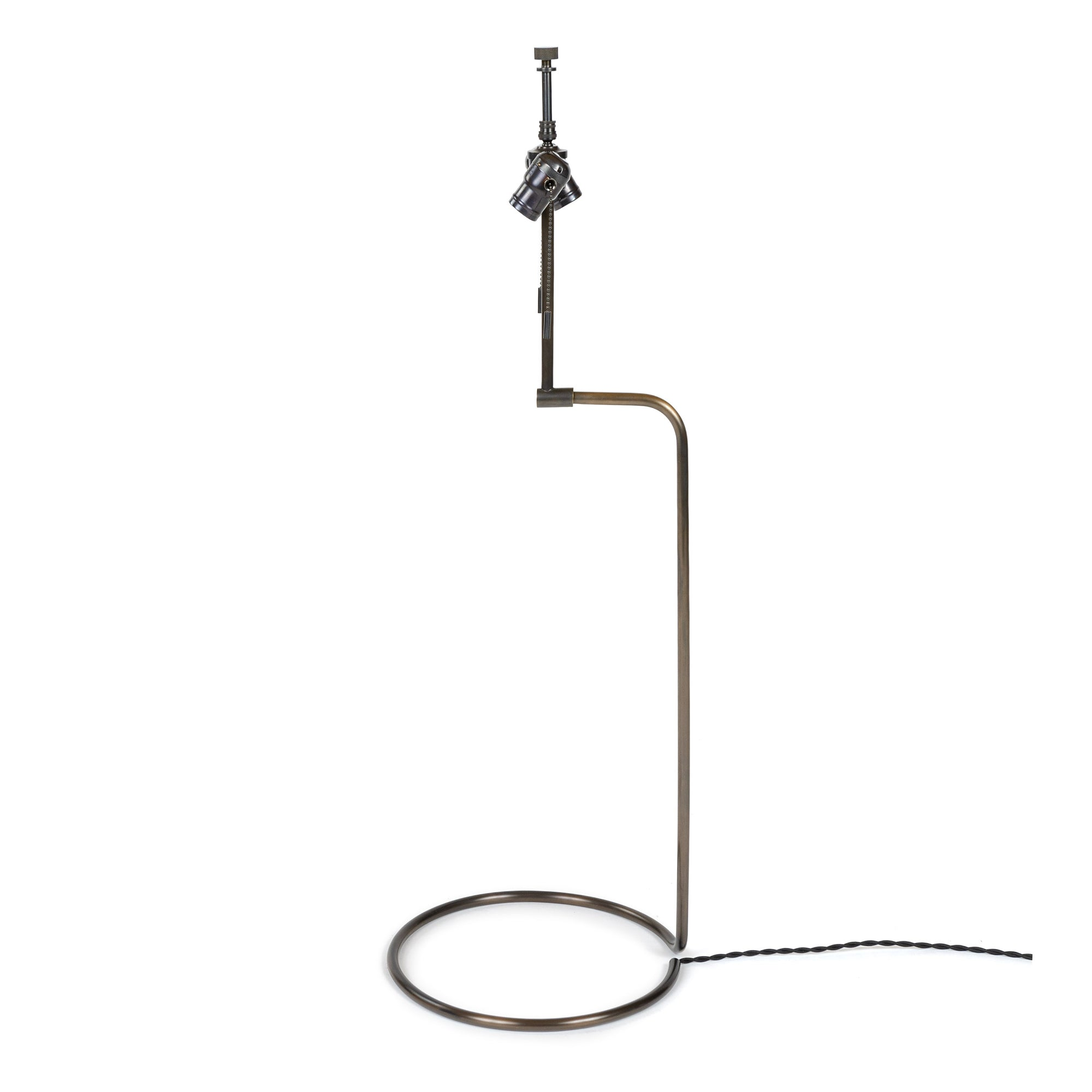 WYETH Original Tall 'Rope' Table Lamp in Blackened Bronze
