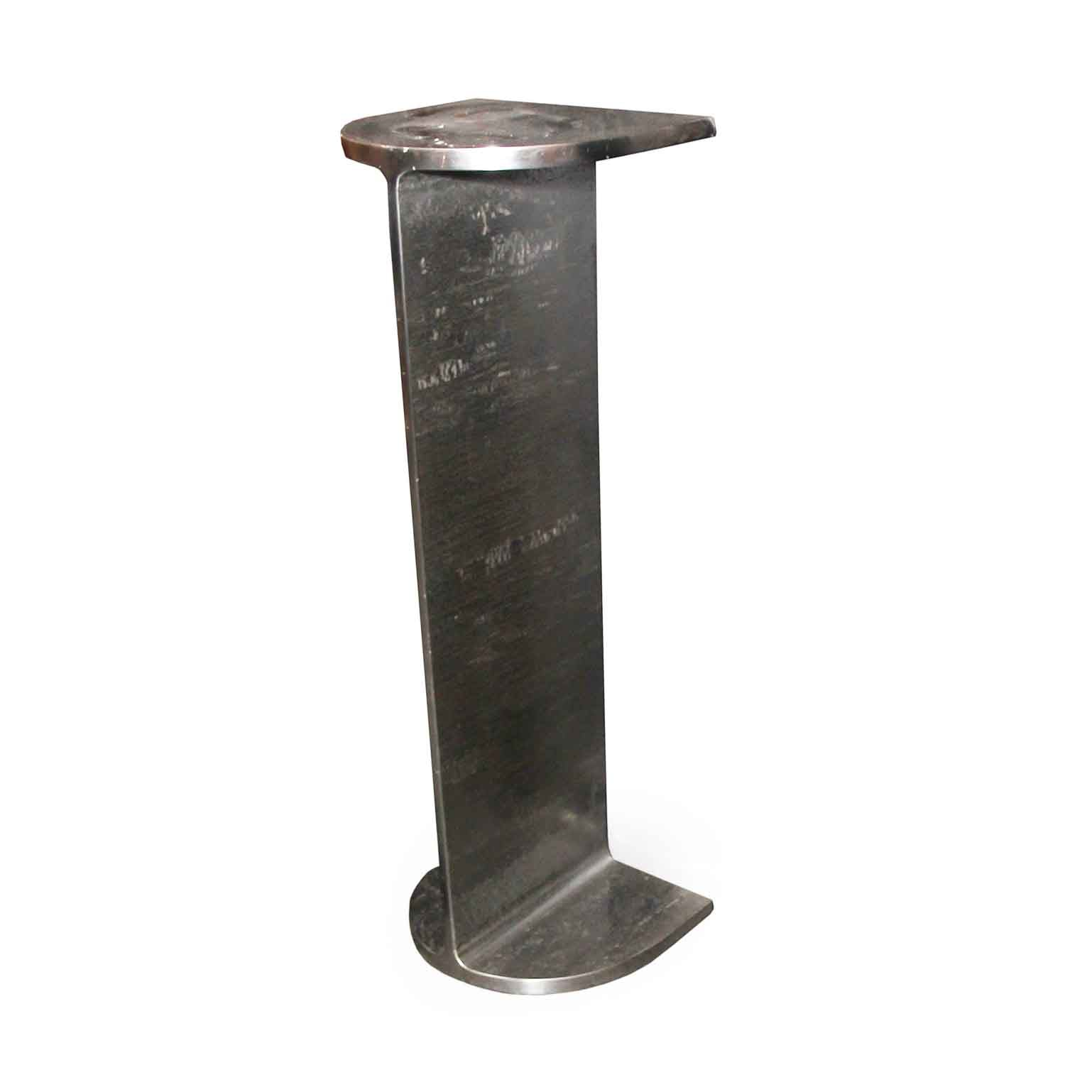 Natural Steel I Beam Pedestal