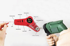 Drill Buddy Cordless Dust Collector with Laser Level