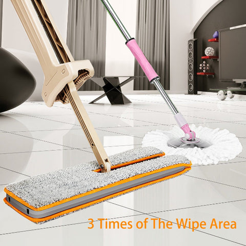 Double Sided Lazy Mop with 360 Flip