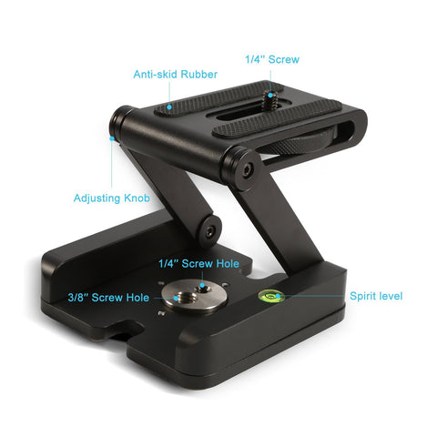 Smart Folding Z Pan and Till Stand Holder for Professional Camera