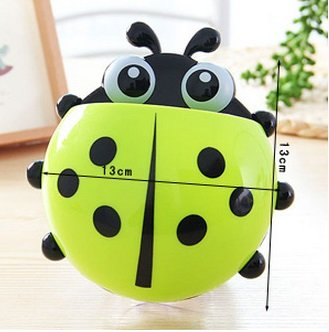 Cute Ladybug Toothbrush Holder (4 pcs)