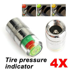 4pcs 36 PSI Tire Pressure Indicator Valve Stem Caps
