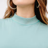 organic cotton mock neck