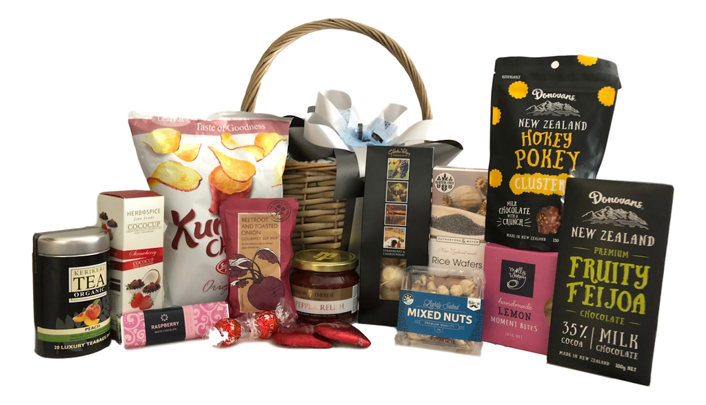 Gourmet gift baskets gift boxes hampers nz basket creations nz basket creations gift hampers are crammed full of gourmet products that any recipient would love to receive whether it be for a birthday christmas negle Choice Image