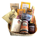 Gift Basket filled with organic tea, nuts, fudge, relish & more! Basket Creations NZ