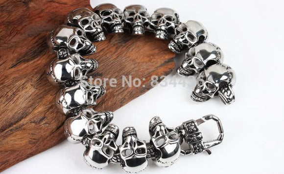 Skull bracelet ghost have for stainless steel