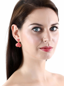 LOUPE LOVE EDITION ENAMEL FASHION JEWELLERY EARRINGS Collection LE17BER01G, EARRINGS, Loupe, Loupe India - Loupe India