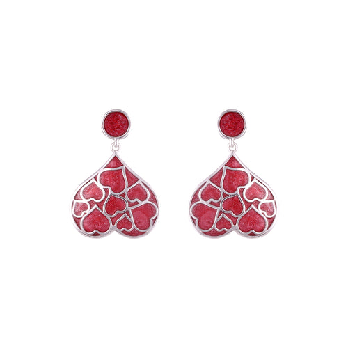 LOUPE LOVE EDITION ENAMEL FASHION JEWELLERY EARRINGS Collection LE17BER03, EARRINGS, Loupe, Loupe India - Loupe India
