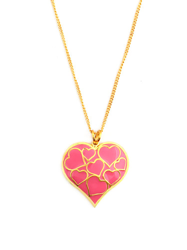 LOUPE LOVE EDITION ENAMEL FASHION JEWELLERY PENDANT Collection LE17BPD01, PENDANT, Loupe, Loupe India - Loupe India