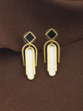 LOUPE NOIR ENAMEL FASHION JEWELLERY EARRINGS Collection LNO17BER04, EARRINGS, Loupe, Loupe India - Loupe India