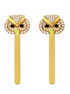 LOUPE OWL CZ FASHION JEWELLERY HAIRPINS Collection LSO16BHP01, HAIRPINS, Loupe, Loupe India - Loupe India