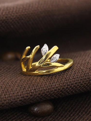 LOUPE LIFE OF TREE PLAIN FASHION JEWELLERY RING Collection LTL17BRG03