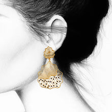 LOUPE ZYPHER CANOPY GOLD FASHION JEWELLERY EARRINGS ZH17BER11, EARRINGS, Loupe, Loupe India - Loupe India