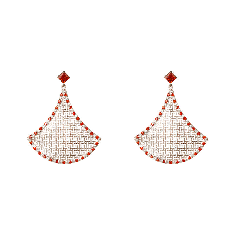 LOUPE ZYPHER DETALLE FASHION JEWELLERY EARRINGS ZH17BER15, EARRINGS, Loupe, Loupe India - Loupe India