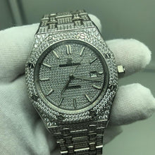 Audemars Piguet Royal Oak Stainless Steel Iced-Out Diamond Encrusted