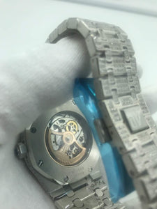 Audemars Piguet Royal Oak Skeleton Iced-Out Bust-Down