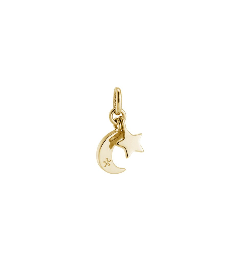 STAR AND MOON CHARM (18K GOLD VERMEIL)
