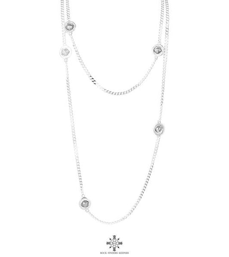 ATTICUS STATEMENT CHAIN SILVER NECKLACE