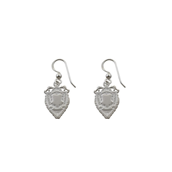 OLD ENGLISH SHIELD EARRINGS