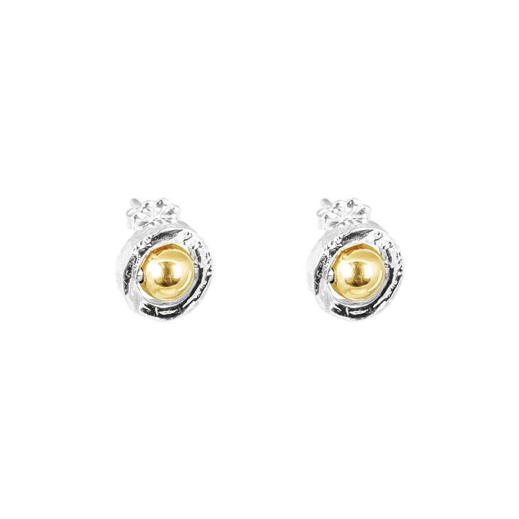 ATTICUS STUD YELLOW GOLD
