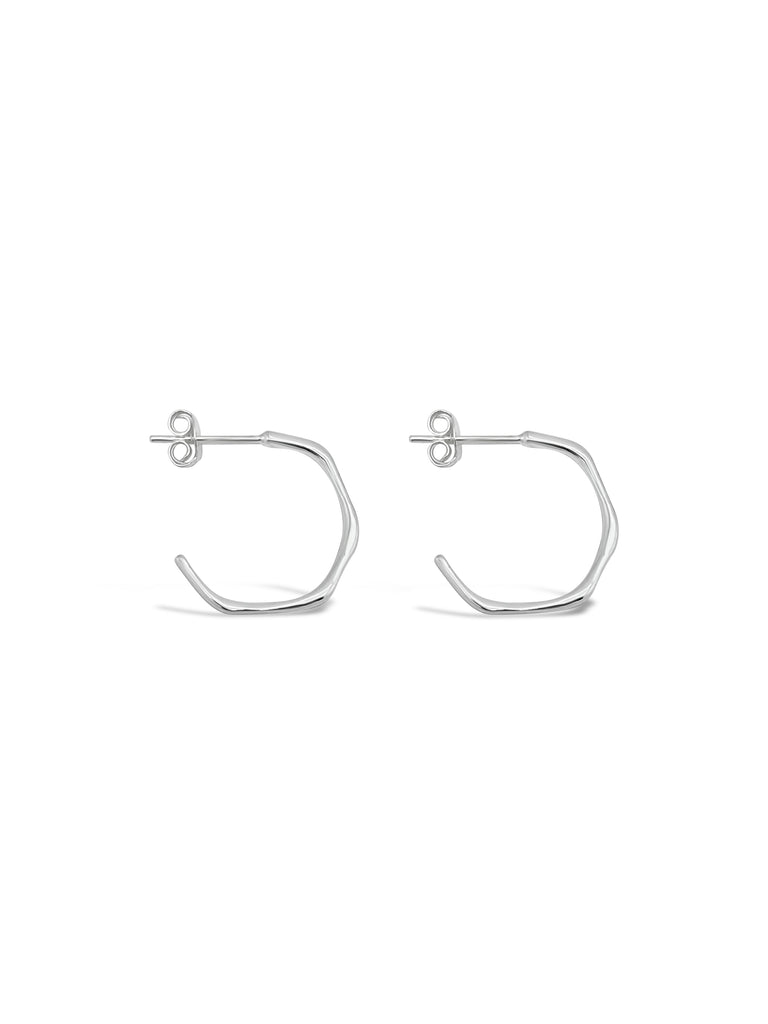 FACETED MINI HOOPS