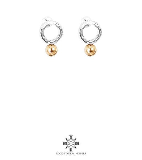 RADISON FINE FEATURE STUD EARRINGS, POLISHED ROSE DETAIL