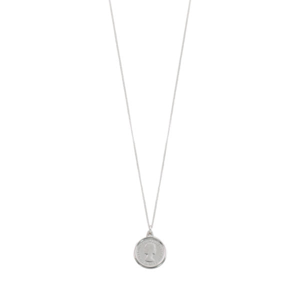 FINE CURB NECKLACE WITH THREEPENCE