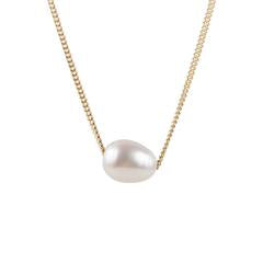 PEARL TEARDROP NECKLACE - GOLD