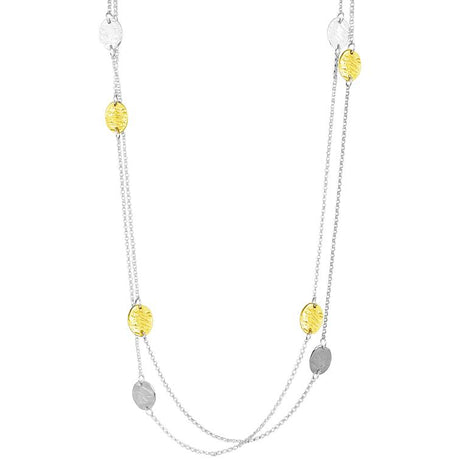 KARA LONG NECKLACE - GOLD AND SILVER