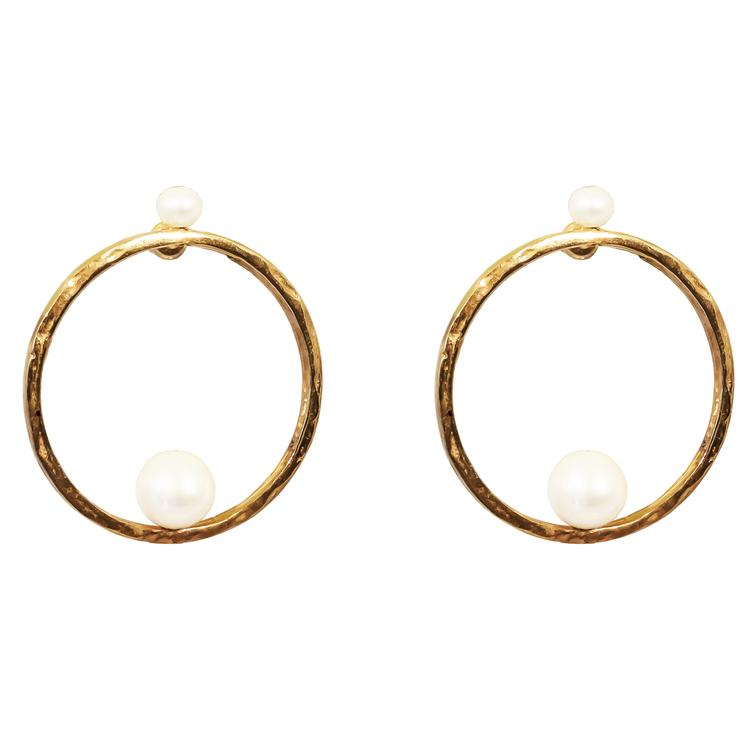 LAYLA EARRINGS - ROSE GOLD PEARL