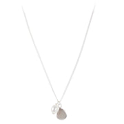 PEARL DISC NECKLACE SILVER