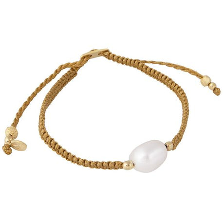 PEARL ROPE BRACELET - GOLD