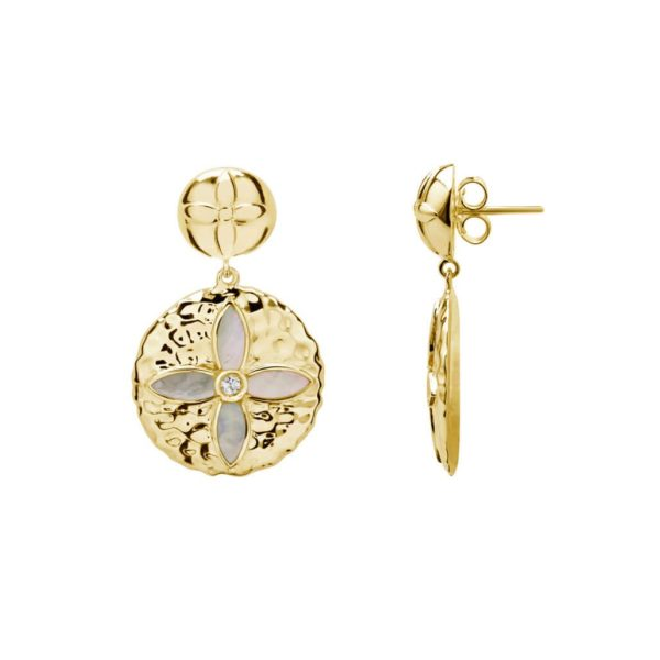 DESERT FLOWER GOLD EARRINGS