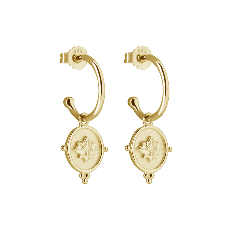 EARRINGS FREEDOM BLOOMING GOLD