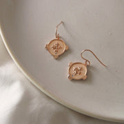 EARRINGS HOPE SILVER - ROSE