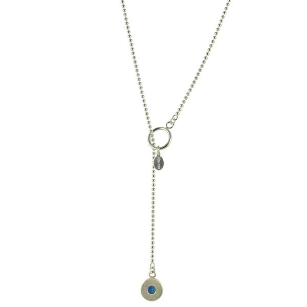 LARIAT OPAL NECKLACE