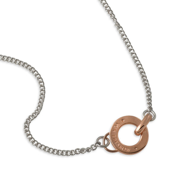 CURB NECKLACE WITH VON TRESKOW DISC