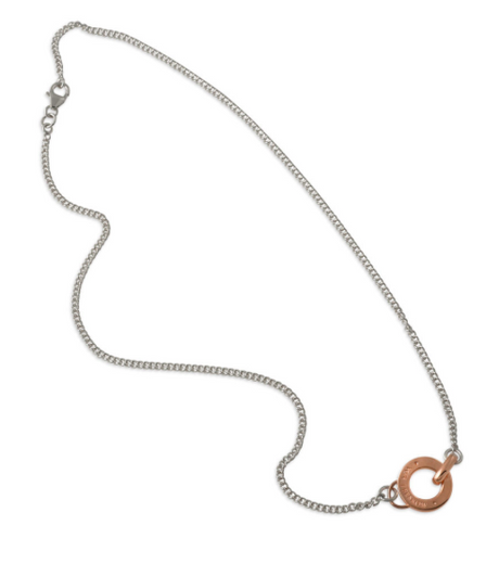 VON TRESKOW ROSE DISK NECKLACE