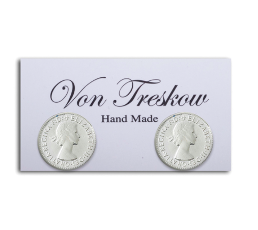 SILVER THREEPENCE STUDS