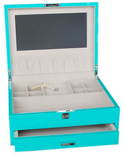 WOOD FINISH JEWELLERY BOX LARGE