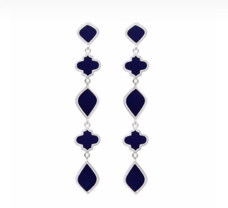 EARRINGS CHANDRA DROP NAVY