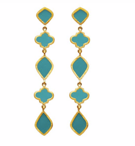 EARRINGS CHANDRA DROP TURQUOISE