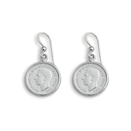 SIXPENCE COIN EARRINGS VON TRESKOW