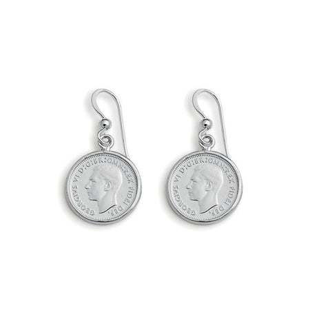 THREEPENCE COIN EARRINGS - VON TRESKOW
