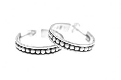 OXIDISED BALL DETAIL HOOPS