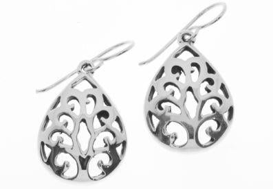 TEARDROP FILIGREE DROP EARRINGS