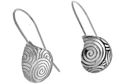 EARRINGS SWIRL DETAIL FIXED DROP