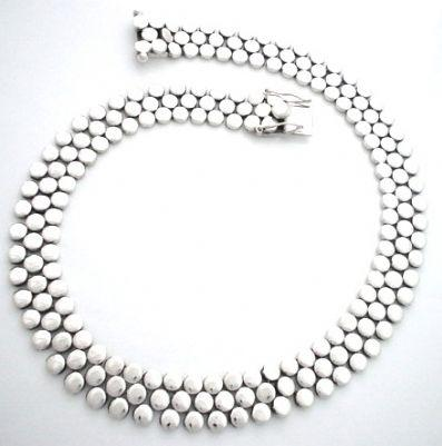 SOLID THREE ROW STATEMENT NECKLACE