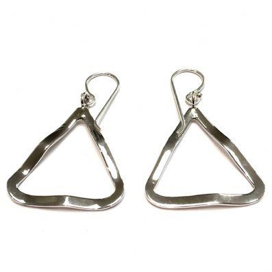 EARRINGS LARGE WAVEY DROP TRIANGLES